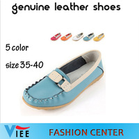 2014 models flat shoes leather comfortable shoes mom genuine leather shoes Peas Korean women casual shoes H0181