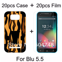 High Quality Screen Film For Blu Studio 5.5 Cover Phone Defender Kick Stand Plastic PC & Silicon(20pcs Case + 20pcs)DHL Shipping