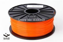 Orange color 3d printer filaments PLA/ABS 1.75mm/3mm 1kg/spool plastic Rubber Consumables Material MakerBot/RepRap/UP/Mendel