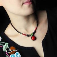 Short / Ethnic / sweater necklace / retro / original handmade jewelry / decorative / female jewelry accessories