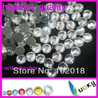 1440pcs!Freeshipping!Highest quality hotfix rhinestone DMC Copy swarov 2038 ss16/4mm Clear Color Strass crystal beads