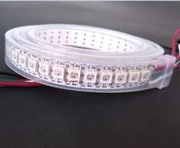 1m LED Pixel Strip Tube Waterproof IP67 WS2812B IC 5050 SMD DC 5V 144 LEDs M High Brightness RGB LED Strip Light