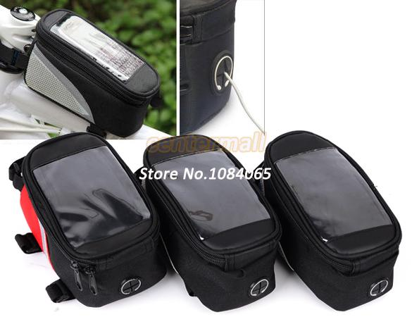 Cycling Bicycle Frame Front Mobile Phone Tube Bag Bike Phone Case 3Colors 18993(China (Mainland))