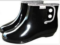 Fashion women's crystal jelly short rain boots rain boots fashion clear rain shoes white