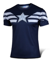 Captain America Short Sleeve T Shirt/ Novelty Short T Shirt Men/ Captain American Jersey Short T Shirt