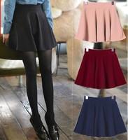 East Knitting OT-025 2014 women candy color pleated skirts 2014 new fashion high waist mini skirt S M L XL plus size