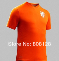 Player version netherlands world cup 2014 Netherlands Orange home soccer jersey top Thailand Quality Football uniforms shirts