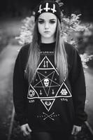 harajuku style Star print hoodies Skull Cross sweatshirts 2014 winter new pullover plus size free shipping