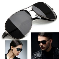 Hot Sale 2014   Men's women Polarized Sunglasses High Quality Brand Driving Aviator Fashion Sun Glasses With Box Free Shipping