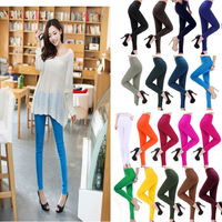 Free Shipping 5x Fashion New Womens Candy Color Rainbow Skinny Slim fit Fitness Stretchy women's Pencil Pants Trousers 15 Colors