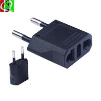 Free Shipping 5pcs/Lot EU plug Travel Power Adapter Charger US to EU Adaptor Plug Converter AC Power Plug