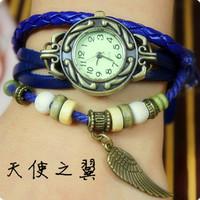 Fashion Cow Leather Strap Casual vintage women's watch decoration table pendant bracelet watch women's Dress Watche