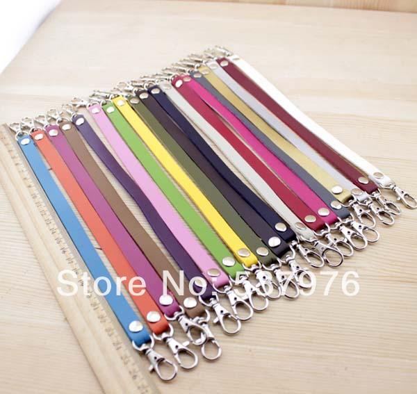 20 colors Double head Silver buckles super-fibre PU leather bag handle DIY handmade handbag accessories Handle/belt/strap 26cm(China (Mainland))