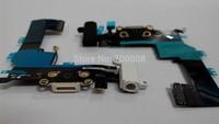 10pcs Charging flex cable for iphone 5s  headphone  Audio Jack  USB port  dock  connector  flex  cable