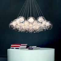 Modern lighting ball spherical bubble pendant light glass spherical dragon ball hanging restaurant lamp G4 1.5W led light