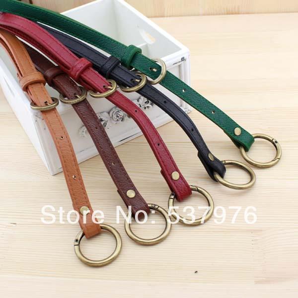 New arrival 66-116cm one shoulder bag man-made leather belt diy handmade bag handles 5 colors 1.5cm wide bag straps free ship(China (Mainland))
