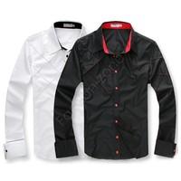 3pcs/Lot 2014 New Fashion Hot Sale Men's Long Sleeve Stylish Slim Fit Dress Shirt 3276