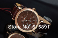 FASHION MEN WATCH MEN'S CLOCK MEN QUARTZ HOURS MILITARY SPORTS MEN LEATHER WATCH LEATHER STRAP MEN'S ANALOG WRIST WATCH RELOJES