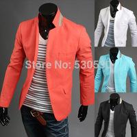 New Classic Mens Fashion Brand Business 2014 Men's Blazers Casual Slim Clothing Red Suit Blazer Tunic White / black / M-XXL