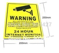 CCTV Security Surveillance Camera Waterproof Warning Sticker Warning Lable Sign Waterproof