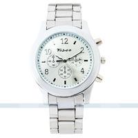 Bling Ladies Women Girl Unisex Stainless Steel Quartz geneva quartz watch for free shipping 052287