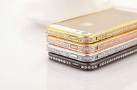 Free Shipping Luxury Bling Bumper For iPhone 5 5g 5s Case Charming Fashion Style Gold Silver Black Color