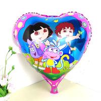 new arrival dora aluminium balloon baby girl bithdays party supplies inflatable balls