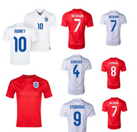 Thai Quality England 14 15 Player version ROONEY GERRARD BECKHAM WILSHERER STURRIDGE LAMPARD England 2014 World Cup Jersey