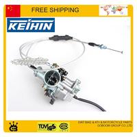 free shipping CG 150cc 200cc 250cc straight dual throttle cable KEIHIN 30mm accelerating pump accelerator racing carburetor