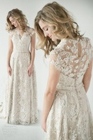 2014 Lace Back Wedding Dresses A vintage inspired lace back wedding dress