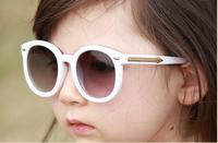 New Fashion Baby Boys Girls Kids Sunglasses Round Retro Children Vintage Frog Mirror Brand Sun Glasses