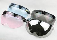 Free shipping!Fashion motorcycle helmet half face lens,electric bicycle capacete visor mirror,TORC T-50 PC Anti-UV Lens,EVO MRC