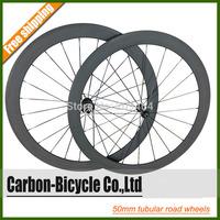 Only 1272g powerful 50mm tubular carbon bike wheels ultra light 700C carbon fiber road bike wheels
