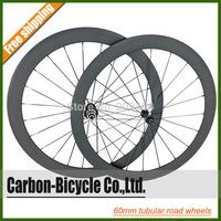 Only 1398g powerful 60mm tubular carbon road bike wheelset ultra light 700C carbon fiber road bike wheels