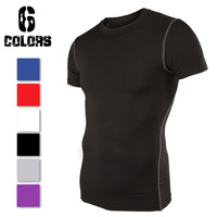 Size S-XXL Men Sport Compression Base Layers Under Tops Shirts Skins Gear Wear Sports Thermal Tees Tops High Flexibility 9262
