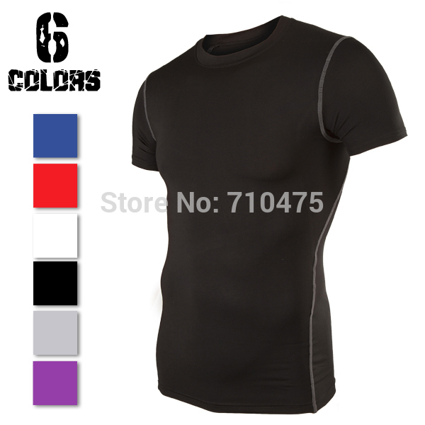 Size S-XXL Men Sport Compression Base Layers Under Tops Shirts Skins Gear Wear Sports Thermal Tees Tops High Flexibility 9262(China (Mainland))