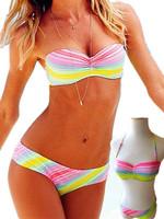 Free shipping new summer 2014 sexy vs outdoor fun & sports Women Set Push Up Strapless Bikini Beach swimwear swimming swimsuit