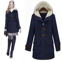 High Quality 2013 Hot Sale Women's Winter Long Sleeve Fur Collar New Fashion Coat Women's Long Outwear Free Shipping WC111