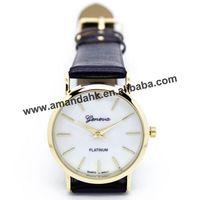 100pcs/lot Promotion Fashion Geneva Leather Watches Women Man Dress Watches Girl's Quartz Wrist Watch Hot Cute Student Watches