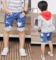 2014 Summer Baby Children Shorts Boys Blue White Star Shorts Kids Clothing 5 PCS