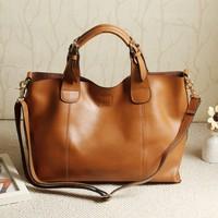 2014 genuine leather bags women leather handbags messenger bag tote shoulder Bags for ladies high quality Vintage Handbag WM50