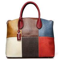 2014 new Fashion OPPO Brand Women  Cowhide Composite Genuine Leather New Luxury Handbag Woman Shoulder Retro Messenger Bag WM43