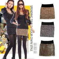 2014 New Arrival Tops Fashon Spring Summer autumn paillette miniskirt  slim short vintage women's Sexy Evening Party Skirts