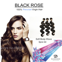 best selling grade 6a peruvian virgin hair body wave 3 bundles 100g/piece 8-30inch natural black sensational premium human hair