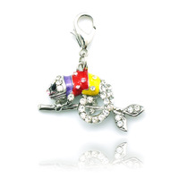 Floating Charms Window Plate,rhinestone charm pendant  zinc alloy Chameleon charm lobster clasp,diy charms