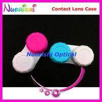 100 pcs Free Shipping C201 contact lens case contact lenses case