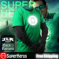 Green Lantern NEW 2014 fashion mens brand cotton novelty luminous tee t-shirts male short sleeve man casual clothing XXXL