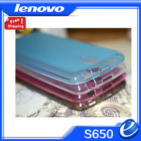 S650 lenovo protective silicon case back cover for lenovo mobile phone free S650 protect screen film shipping white blue red