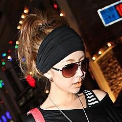 Hair accessory full vintage wide ribbon headband hair band bandanas scarf new fashion party black & grey in stock wholesale(China (Mainland))