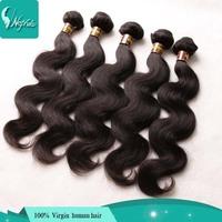 Unprocessed virgin Peruvian wavy hair 5 pcs lot body wave 100% human hair weaves 6a virgin Peruvian hair bundles extensions